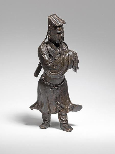 A bronze figure of Lu Dongbin