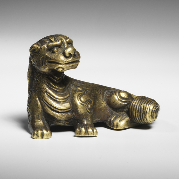 Bronze weight Buddhist lion