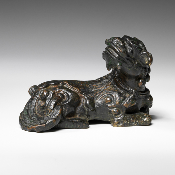 Bronze Buddhist lion