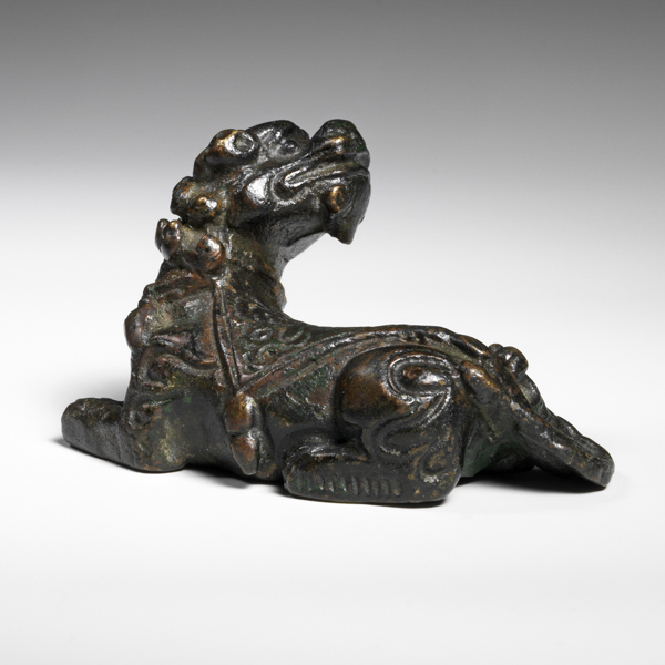 Bronze Buddhist lion CM970