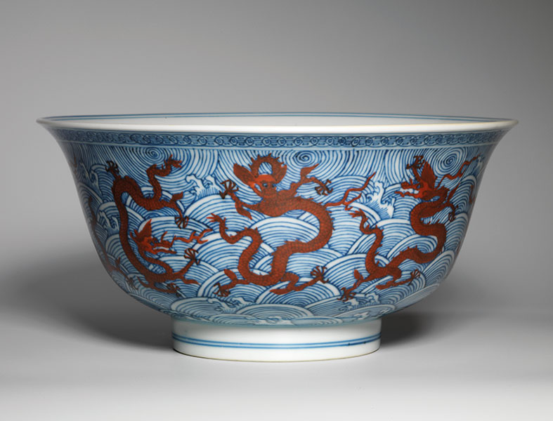 Iron-red decorated porcelain bowl