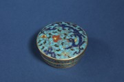 A rare <em>cloisonné</em> enamel box and cover