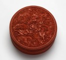 Carved lacquer box with dragons
