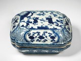 Blue and white porcelain box and cover
